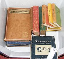Various books relating to Tennyson