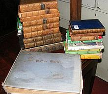 Selection of antique books