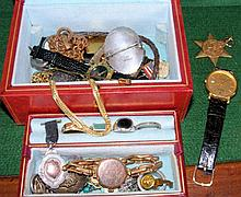 Selection of costume jewellery, including rings,