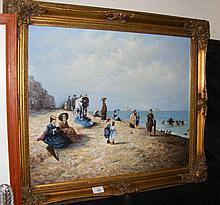VERON - oil on canvas of Victorian Isle of Wight