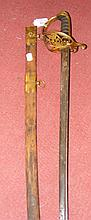 A George IV Officer's dress sword with 79cm blade