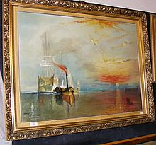After J M W TURNER - 60cm x 80cm - oil on board -