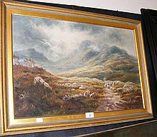 A TURNER - 40cm x 60cm - oil on canvas - Highland