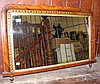 Parquetry inlaid rosewood overmantel mirror