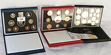 Three Royal Mint proof coin sets