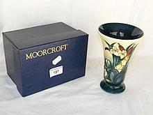 A 16cm Moorcroft trumpet vase decorated with water lilies and bulrushes - b