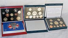 1997, 1998 and 2004 Royal Mint proof coin collections in presentation cases