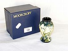 "A 10cm Moorcroft ""Nivalio"" pattern posy vase - boxed"
