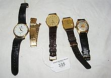 Four assorted Richard and other gent's wristwatches, etc.