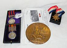 A Queen's South Africa Medal with Waziristan clasp 2542 Pte. A Daniels, 2nd