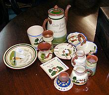 A collection of assorted Cornish Mottoware of Isle of Wight interest