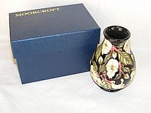 "A 14cm ""Mountain Gold"" pattern Moorcroft vase - boxed"