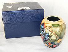A 9.5cm Moorcroft posy vase - boxed
