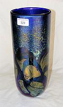 A 34cm heavy Isle of Wight Glass vase