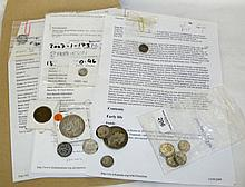 A collection of Charles I and Victorian coins