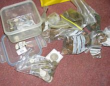 A quantity of assorted pre-decimal and later silver and copper coinage