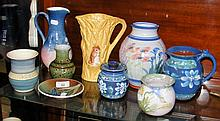 Assorted Isle of Wight and other pottery, including Haseley Manor jug