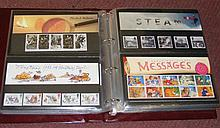 Sixty-four presentation packs of GB stamps in Royal Mail album