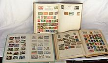 Sundry world postage stamps contained in three albums