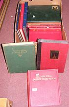 Fifteen assorted empty postage stamp albums