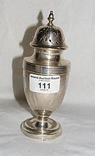 Edwardian silver sugar shaker - London 1910