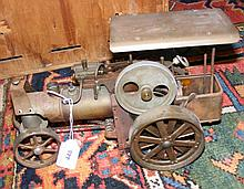 "An old ""live"" steam tractor - 34cm long"