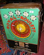 "A vintage ""Royal-Roulett"" arcade game"