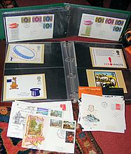 A large collection of old stamps, First Day Covers - loose and in albums