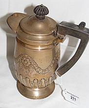 A silver water jug with London hallmark - 14oz