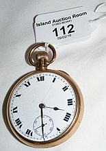 A 9ct gold gent's pocket watch with separate second hand