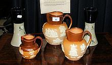 Doulton stoneware jugs, vases, etc.