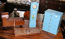 Antique doll's crib, book stand etc.