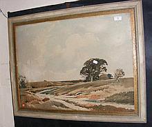 EDWIN HARRIS - watercolour of Storrington Heath, S