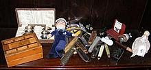 Collectable penknives, pin doll etc.