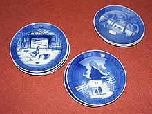 Eight Royal Copenhagen collectors' plates