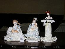 Royal Worcester figurine and two others