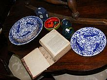 Various collectables, including paperweights, Pool