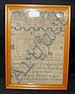An antique sampler by Mary Stone who went on to