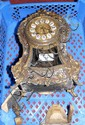 A 19th century Boulle mantel clock (for