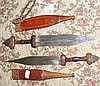 An old African dagger with leather sheath and one
