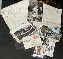 Various old collectable postcards, ephemera etc.