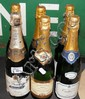Six bottles of Champagne, including Geldermann