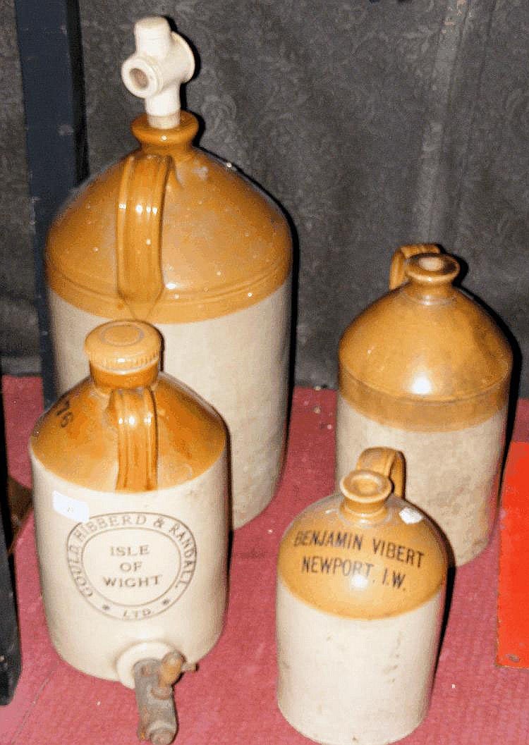 An old stoneware flagon for Gould, Hibberd &