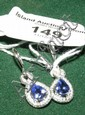 A pair of 18ct white gold tanzanite and diamond