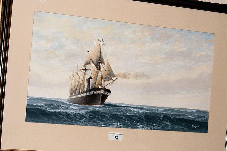 PETER LEATH - watercolour of SS Great Britain -