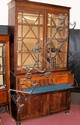 A 19th century mahogany secretaire bookcase with