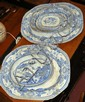 Early blue and white meatplates