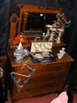 The matching Arts & Crafts style dressing table