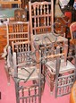 Eight Lancashire style dining chairs