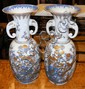 A pair of impressive antique Japanese vases with